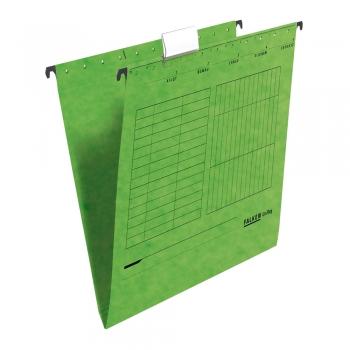 Dosar suspendabil Falken, carton, verde, 25 bucati/cutie