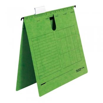 Dosar cu sina Falken, carton, verde, 25 bucati/cutie