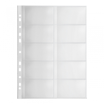 File de protectie Falken, pentru carti de vizita, 120 microni, 10 bucati/set