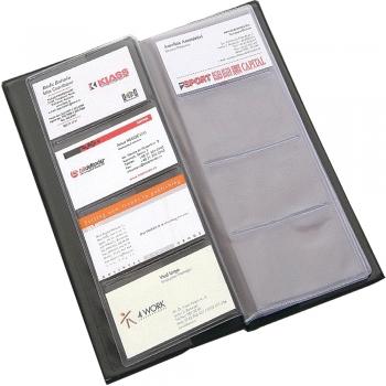 Clasor pentru carti de vizita Flaro, 80 carti de vizita, negru